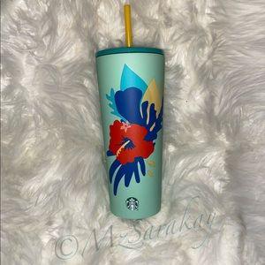 Starbucks Summer Teal Hibiscus 🌺 Tumbler